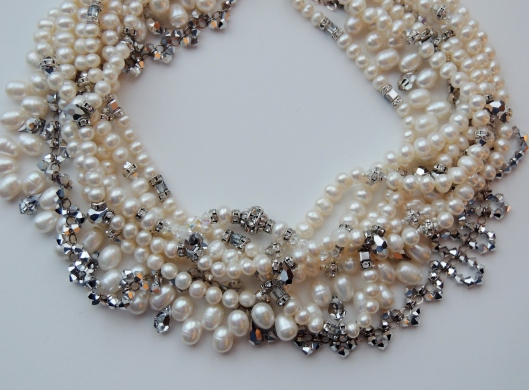 Platinum And Pearls Haute Couture Necklace