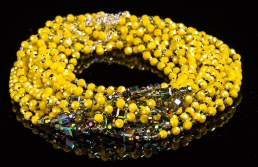 Citrus Yellow Crystal Choker