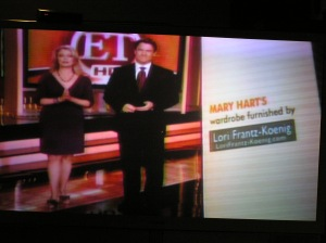 The show Entertainment Tonight's screen credits!